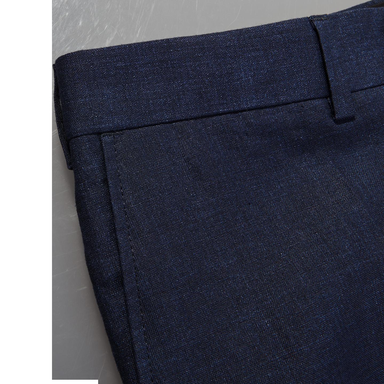 Eduard Dressler Navy Pure Linen Summer Suit Edge