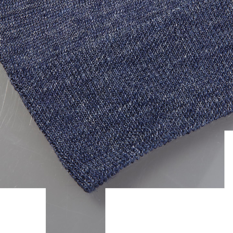 Gran Sasso Blue Linen Short Sleeve T-Shirt Edge