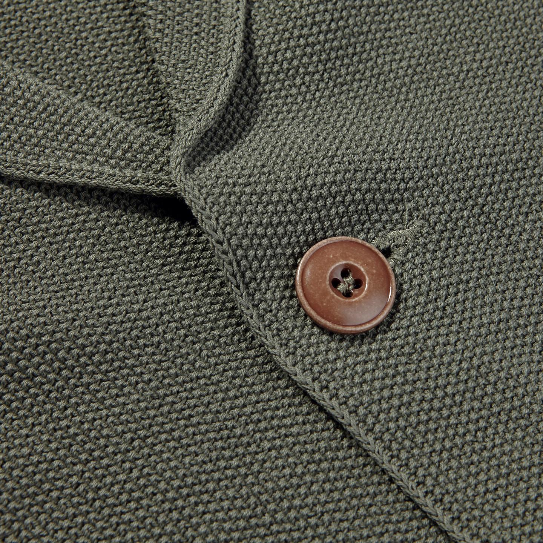 Gran Sasso Washed Green Pure Cotton Cardigan | Baltzar