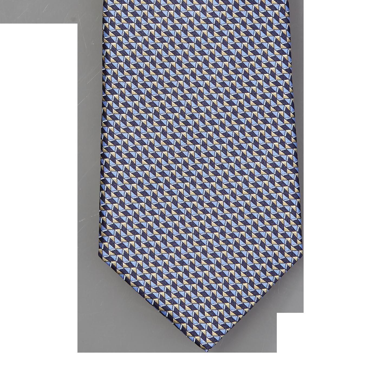 Lanvin Blue on Blue 3D Print Tie Tip