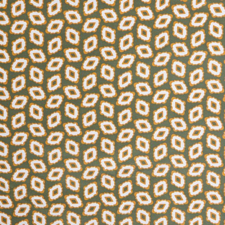 Lardini Beige Geometrical Printed Silk Cotton Bandana Fabric