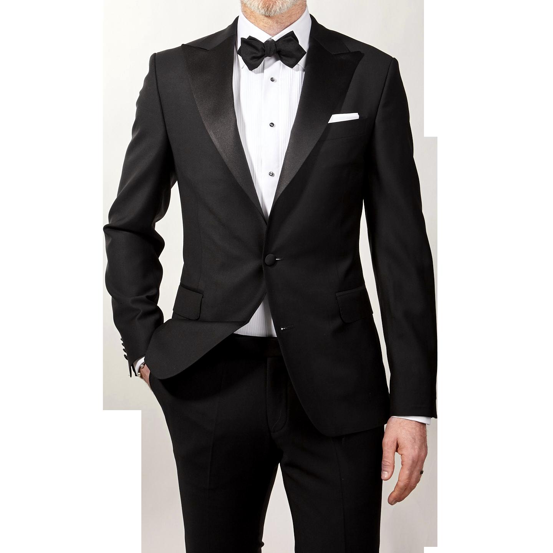 Oscar Jacobson Tuxedo Jacket Black Elder Front
