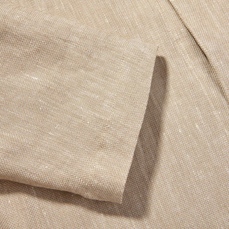 Oscar Jacobson Light Beige Cotton Linen Hampus Shirt Jacket Cuff