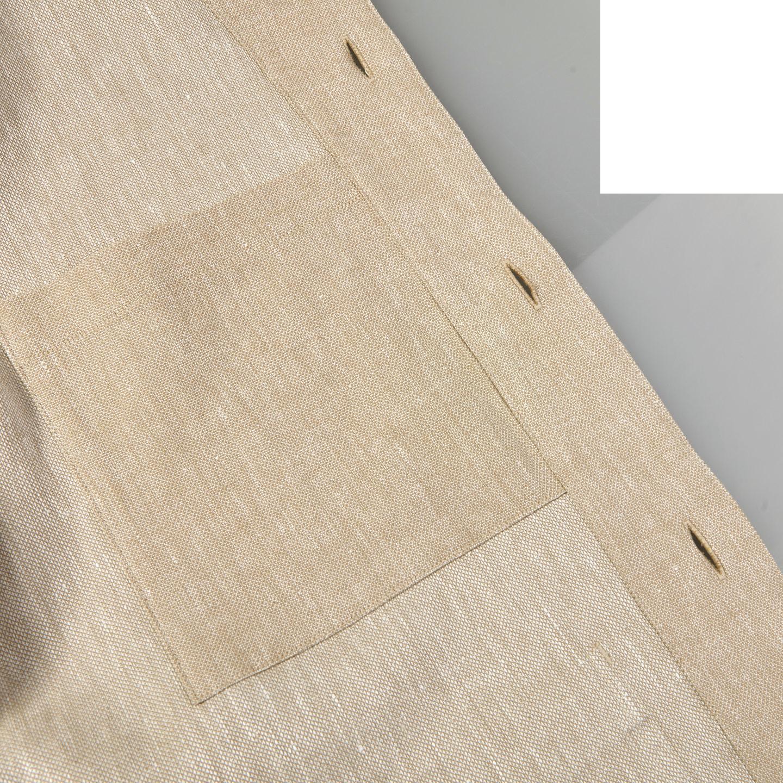 Oscar Jacobson Light Beige Cotton Linen Hampus Shirt Jacket Inside