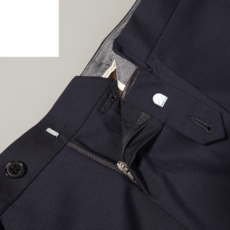 Oscar Jacobson Navy Darius Suit Trousers Front Zipper