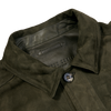 Werner Christ Green Suede Leather Jacket Collar