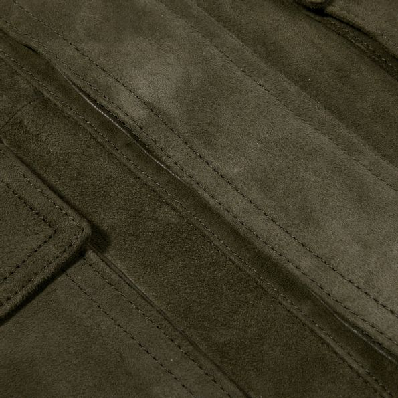 Seam Christ Green Suede Leather Jacket Seam