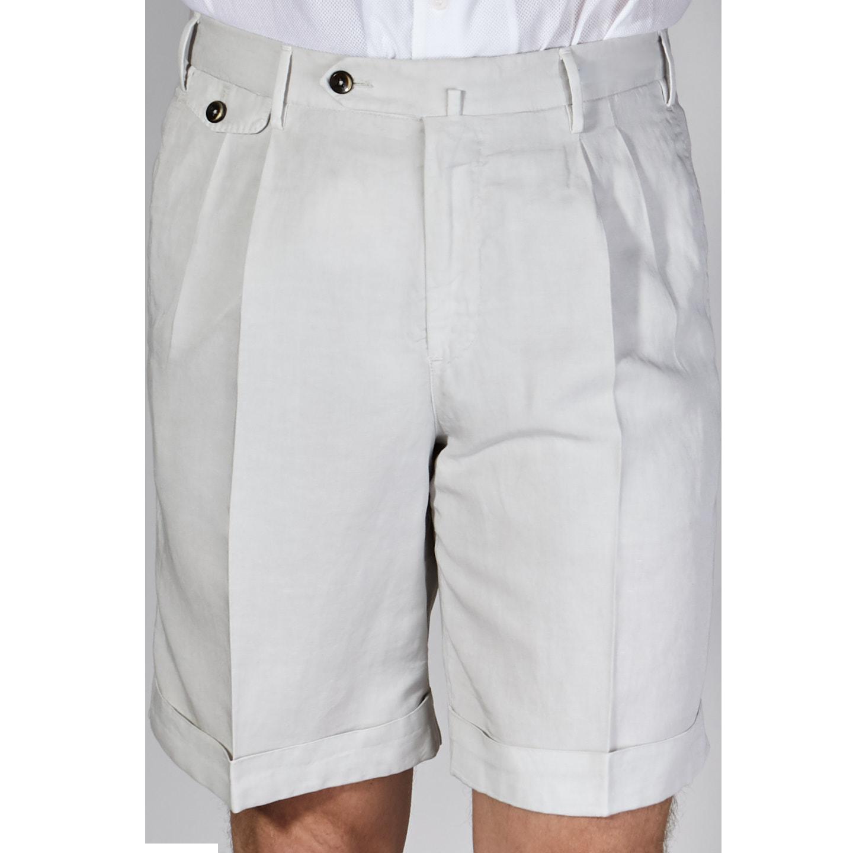 a basso prezzo 92f62 dbf5b Pantaloni Torino - PT01 Light Beige Cotton Linen Shorts | Baltzar