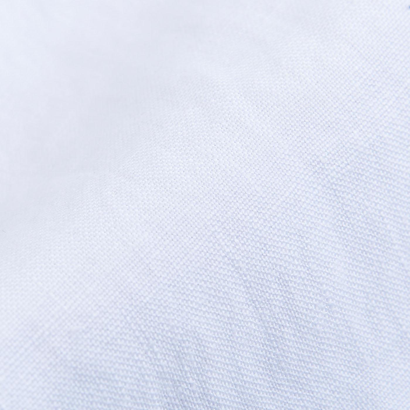 San Siro White Linen Palma Trousers Fabric
