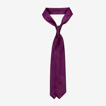 Dreaming of Monday Burgundy 7-Fold Vintage Wool Silk Tie Feature