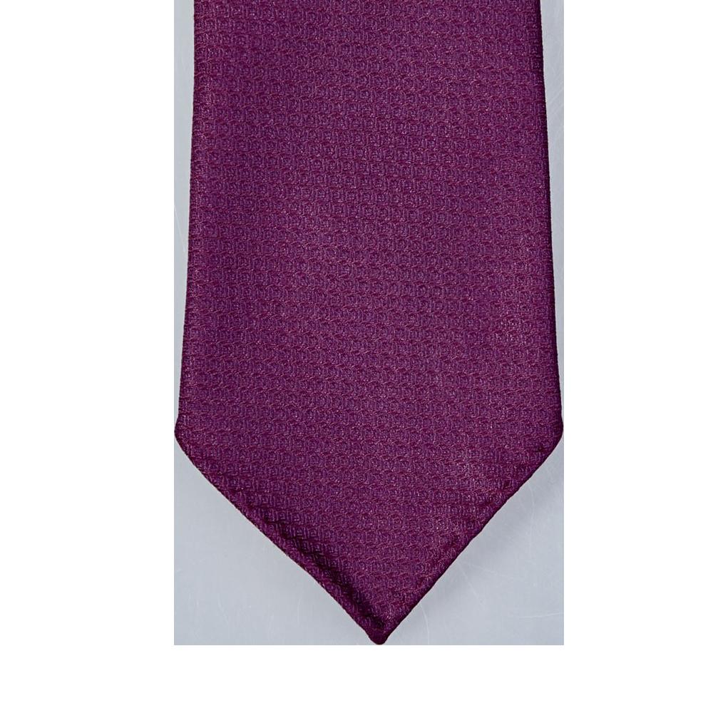 Dreaming of Monday Burgundy 7-Fold Vintage Wool Silk Tie Tip