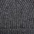 Johnstons of Elgin Dark Granite Ribbed Cashmere Hat Fabric