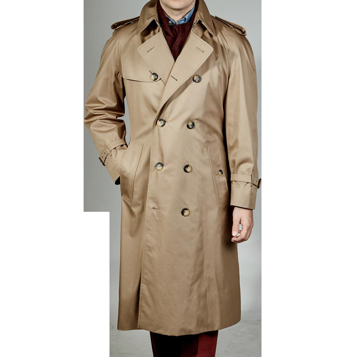 newest 3e08c d6ba1 Grenfell - Beige Windsor Cotton Trench Coat | Baltzar