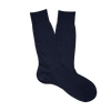 Pantherella Navy Merino Wool Ribbed Ankle Socks Feature.