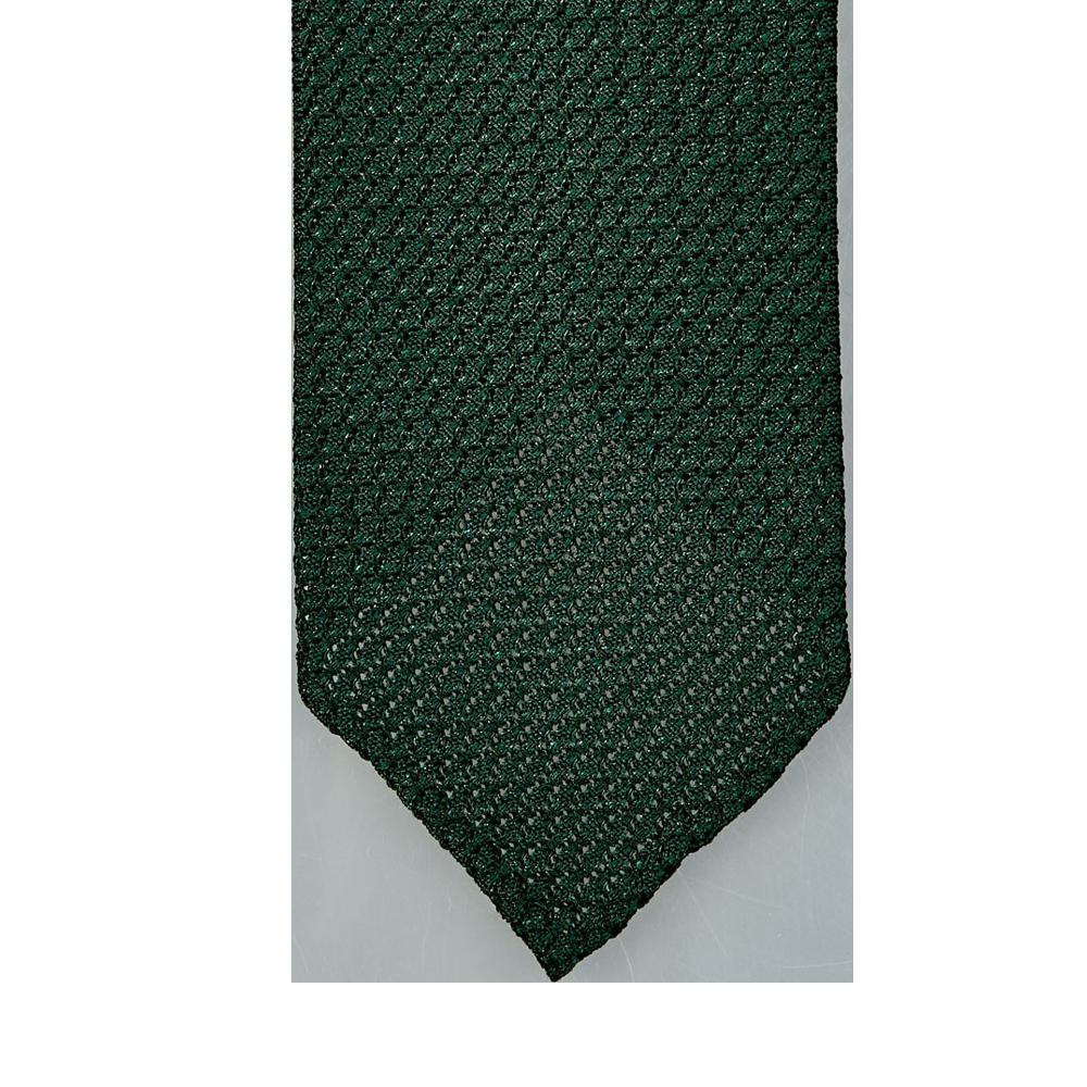 Drake's Green Handrolled Large Knot Grenadine Tie Tip