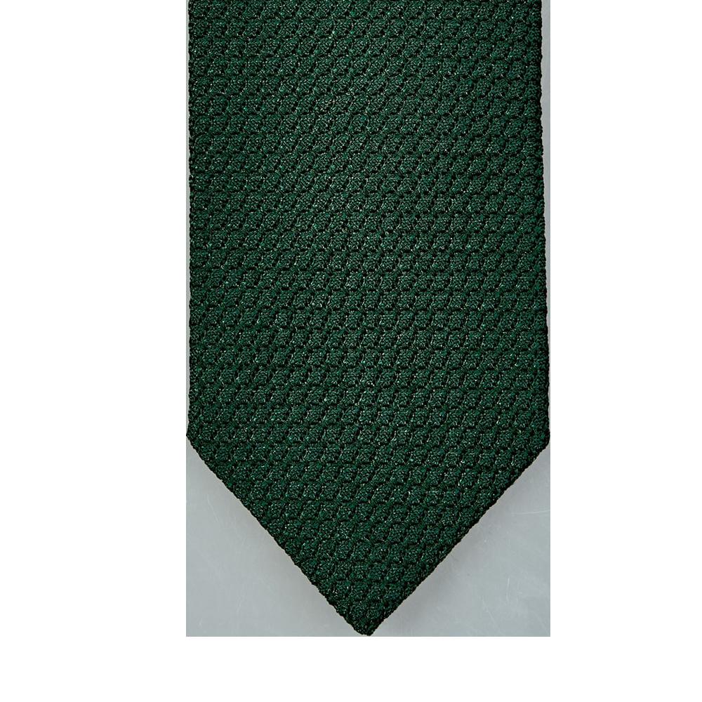 Drake's Green Lined Large Knot Grenadine Tie Tip