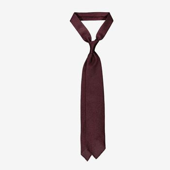 Drake's Wine Handrolled Large Knot Grenadine Tie Feature