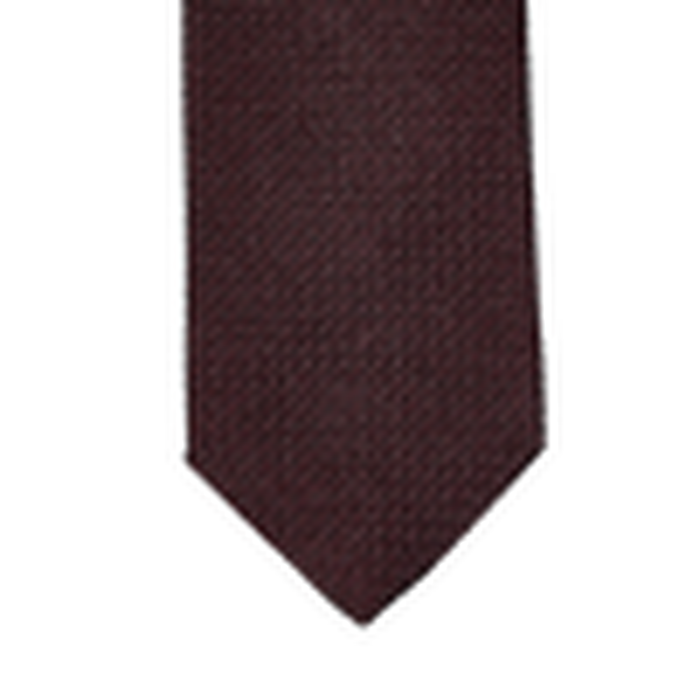 Drake's Wine Lined Large Knot Grenadine Tie Tip