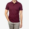 Sunspel Maroon Short Sleeve Riviera Polo Front