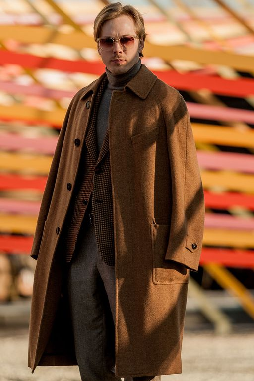 whelm sturesson wearing a canali cashmere coat at pitti uomo 97 in florence