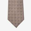 Amanda Christensen Brown Woven Dots Cotton Silk Lined Tie Tip