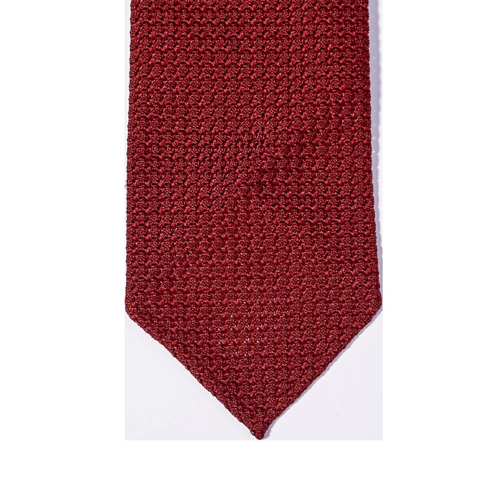 Amanda Christensen Clear Red Grenadine Grossa Handrolled Silk Tie Tip