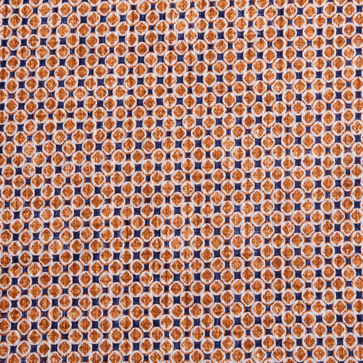 Amanda Christensen Orange Geometrical Printed Silk Cotton Bandana Pattern