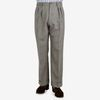 De Petrillo Warm Grey Wool Fresco Pleated Trousers Front
