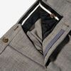 De Petrillo Warm Grey Wool Fresco Pleated Trousers Zipper