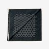 Lardini Black Geometrical Print Silk Cotton Bandana Folded