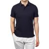 Sunspel-Navy-Short-Sleeve-Riviera-Polo-Front