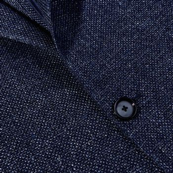 Tagliatore Blue Wool Linen Basketweave Blazer Closed