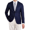 Canali Navy Wool Hopsack Unconstructed Blazer Front