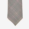 Dreaming of Monday Brown Glen Plaid 7-Fold Vintage Wool Tie Tip