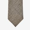Dreaming of Monday Light Brown 7-Fold Silk Wool Linen Tie Tip