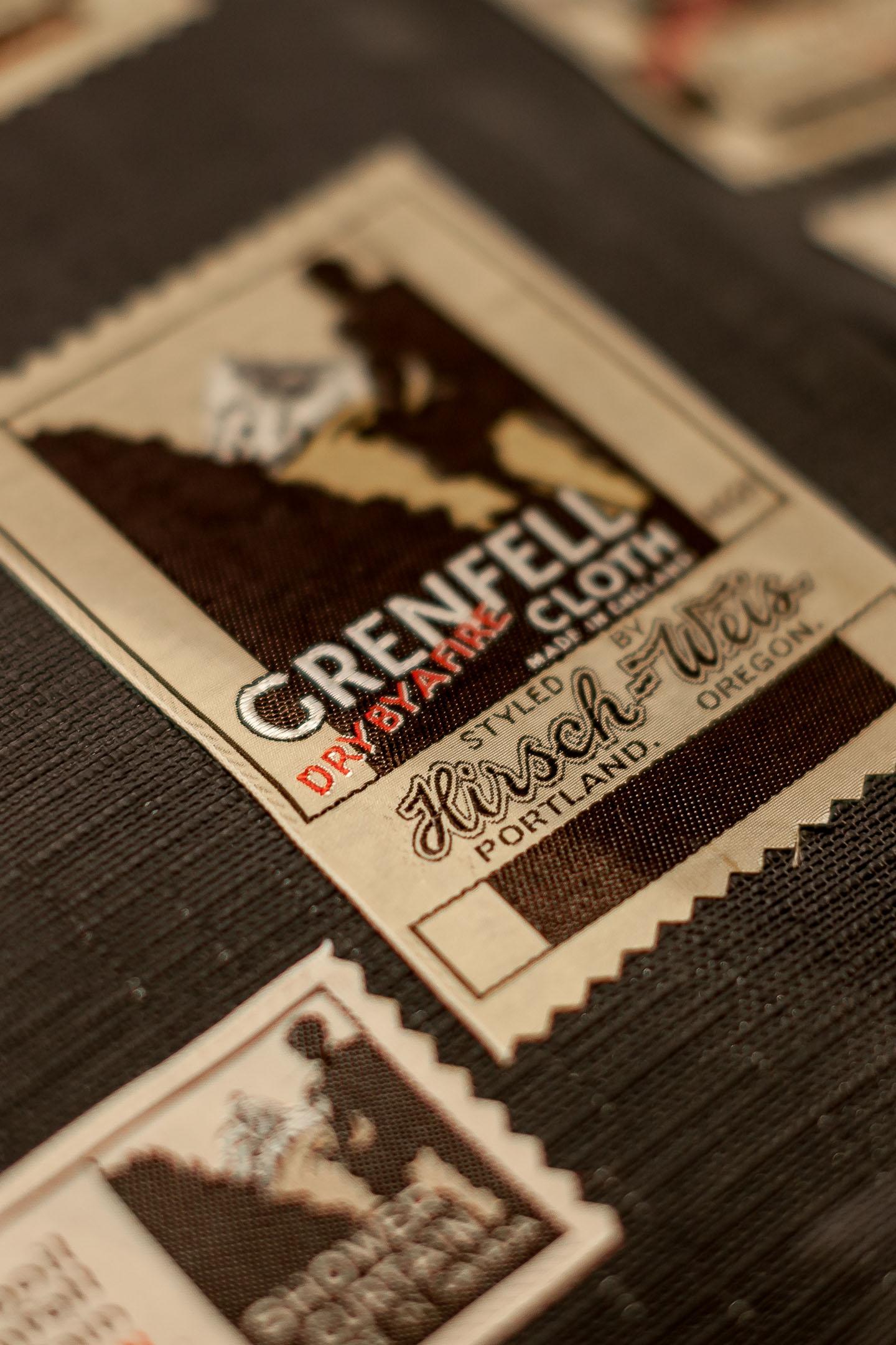 GRENFELL RETRO BRAND CLOTHING TAG