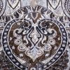 Gierre Milano Muted Beige Printed Modal Linen Scarf Pattern