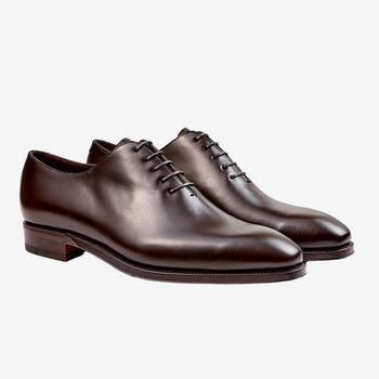 Carmina Brown Calf Leather Rain Wholecut Oxfords Front