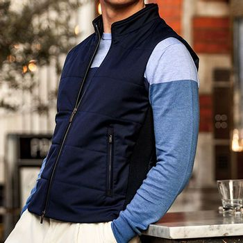 Navy Technical Gilet by Canali
