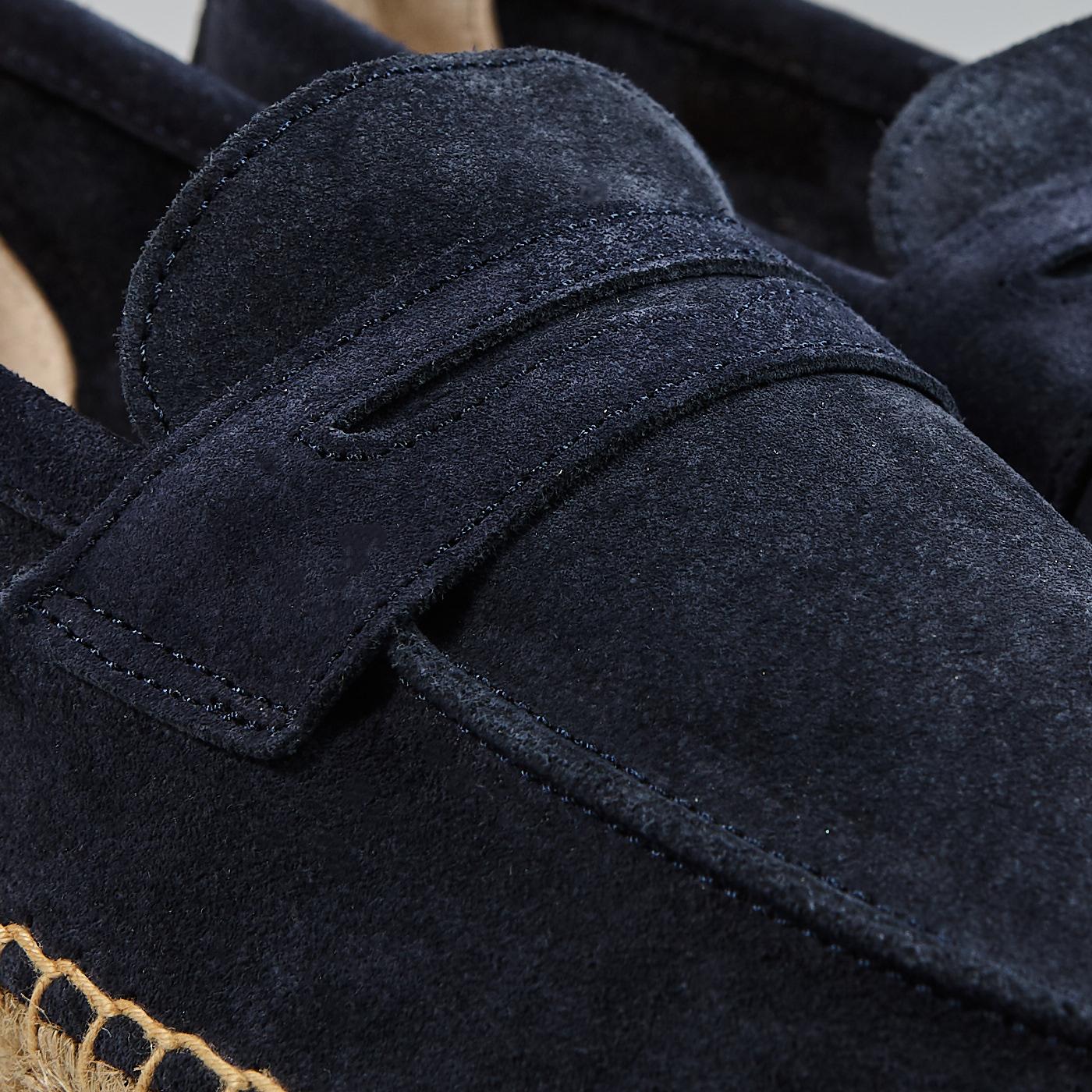 Castañer Navy Suede Penny Espadrilles Fabric