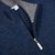 Gran Sasso Dark Blue Melange Wool Cashmere 1:4 Zip Sweater Open
