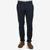Mason's Navy Herringbone Milano Washed Cotton Chinos Front