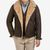 Werner Christ Brown Lambskin Leather Jona Flight Jacket Front (kopia)