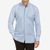 100Hands Light Blue Cotton Oxford Blackline Slim Fit Shirt Front