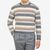 Altea Beige Grey Block Striped Wool Sweater Front