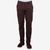 Canali Washed Burgundy Cotton Twill Jeans Front
