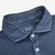 Fedeli Washed Blue Organic Cotton Polo Shirt Collar