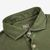 Fedeli Washed Green Organic Cotton Polo Shirt Collar
