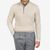 Gran Sasso Cream Pure Cashmere Quarter Button Sweater Front