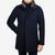 Herno Navy Diagonal Wool Fur Car Coat Front
